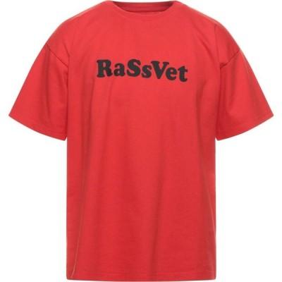 ラスベート PACCBET メンズ Tシャツ トップス T-Shirt Red