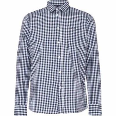 ピエール カルダン Pierre Cardin メンズ シャツ トップス Long Sleeve Shirt Navy/White