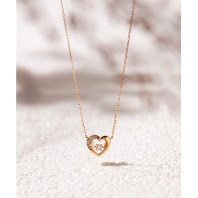 ネックレス 【BLOOM/ブルーム】K10 ピンクゴールド ダイヤモンド ハート ネックレス