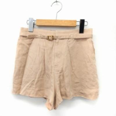 【中古】ラブレス LOVELESS パンツ ショート ウエストゴム ベルト シンプル ポケット 34 ベージュ /ST25 レディース