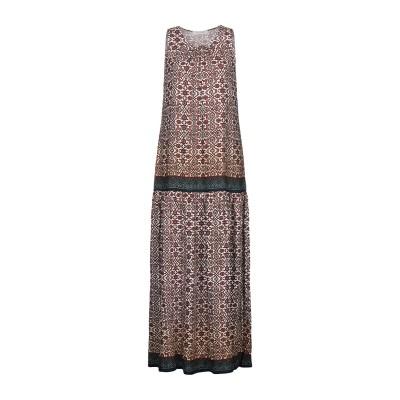 TWINSET UNDERWEAR ロングワンピース&ドレス 赤茶色 S レーヨン 100% ロングワンピース&ドレス