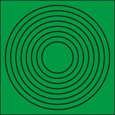 配管識別・バルブ関係標識 ゲージマーカー円形緑|446-86