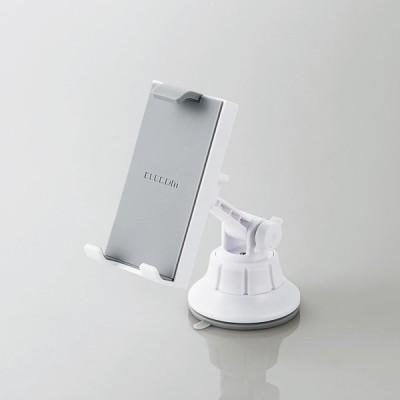エレコム(ELECOM) 車載アクセサリー/スマホ・タブレット対応スタンド/ゲル吸盤タイプ/ホワイト P-CARTB01WH