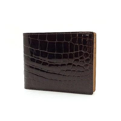 【緑屋質屋】LAIGLON(レグロン) クロコ 2ツ折り財布 made in FRANCE【中古】
