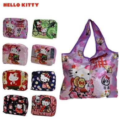 Hello Kittyハローキティ エコバック 折りたたみ コンパクト 雑貨 ポイント消化 プレゼント ギフト