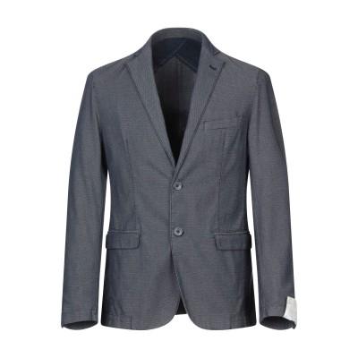 BARBATI テーラードジャケット ダークブルー 52 コットン 63% / ポリエステル 35% / ポリウレタン 2% テーラードジャケット