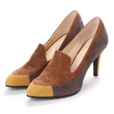 アンタイトル シューズ UNTITLED shoes パンプス (ブラウンスエードコンビ)