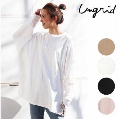 アングリッド ungrid 通販 ビッグシルエットロングスリーブTee レディース トップス カットソー Tシャツ ロングTシャツ ロンT 長袖 ゆったり オーバーサイズ