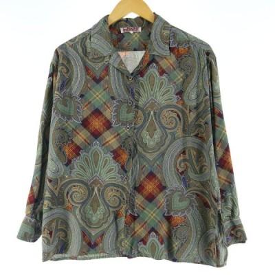 infinitif 長袖 オープンカラーシャツ レディースM /eaa021785