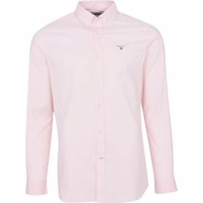 バブアー Barbour メンズ ポロシャツ トップス Crest Saltire Pima Jersey Polo Shirt Pink SMU