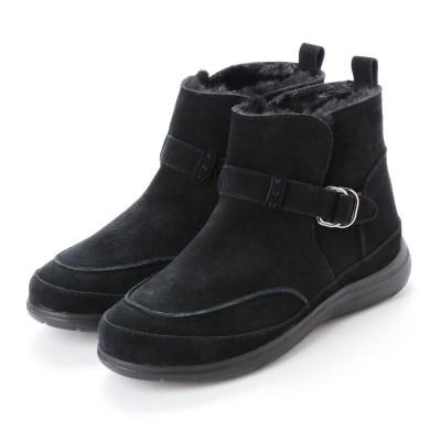 キスコ KISCO 【本革】防水カジュアルショートブーツ (ブラック)