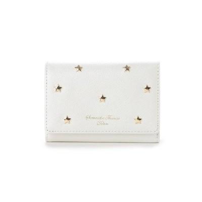 サマンサタバサ 折財布 スターモチーフ  ホワイト Samantha Thavasa Deluxe