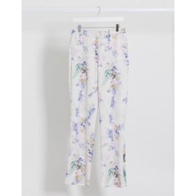 エイソス レディース カジュアルパンツ ボトムス ASOS DESIGN wide leg suit pants two-piece in floral print Floral