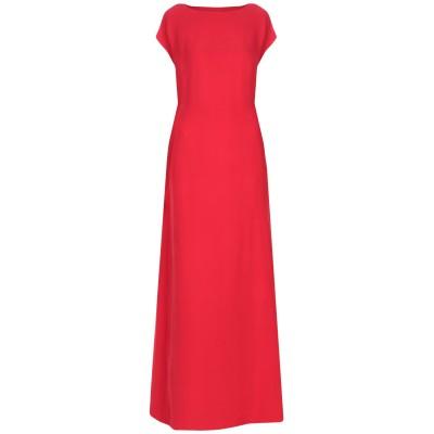 ヴァレンティノ VALENTINO ロングワンピース&ドレス レッド 40 シルク 100% ロングワンピース&ドレス