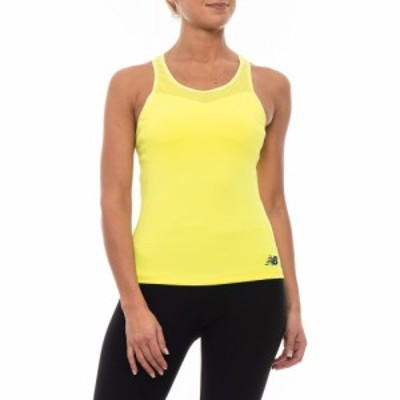 ニューバランス New Balance レディース タンクトップ トップス Tournament Tank Top - Racerback. Built-In Bra Solar Yellow