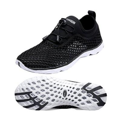 Zhuanglin Women's Quick Drying Aqua Water Shoes,Blackwhite,9 B(M) US【並行輸入品】