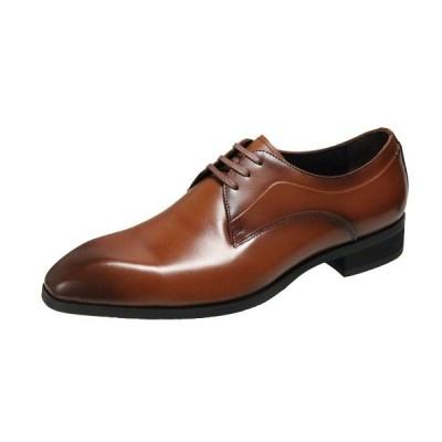 エルオムメンズシューズ7215ライトブラウンプレーンビジネスシューズシンプルながらスタイリッシュな紳士靴