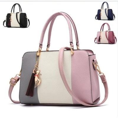 人気 エレガント鞄カバン ショルダーバッグ 配色 アクセサリー付き ファッション マルチカラー 気質アップ 高級感 ハンドバッグ