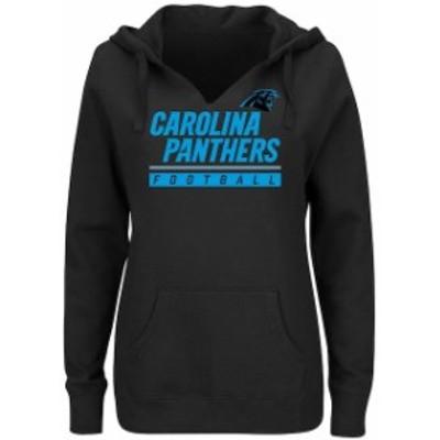 Majestic マジェスティック スポーツ用品  Majestic Carolina Panthers Womens Black Self-Determination Pullover Hoodie