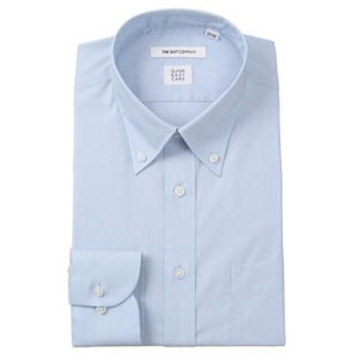 【SUPER EASY CARE】ボタンダウンカラードレスシャツ 織柄 〔EC・FIT〕