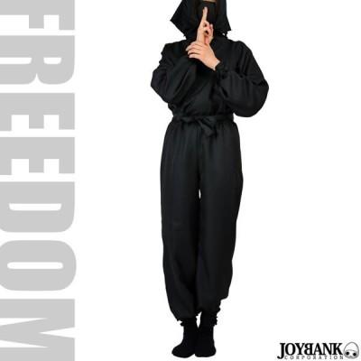 セール ハロウィン 忍者 くノ一 コスプレ 衣装 なりきりコスチューム!定番の真っ黒な黒装束の忍者コスチューム 男女兼用