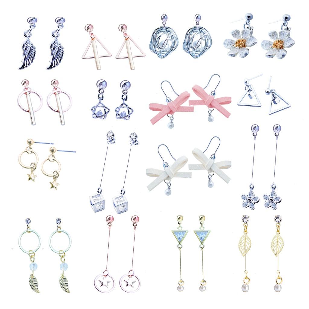 韓國小葉珍珠系列 耳環 針式 夾式 【Bonjouracc】