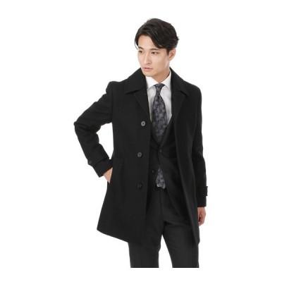 秋冬用 ブラック系 【ウール100%】【ステンカラー】スタイリッシュコート PERSON'S FOR MEN