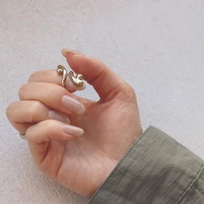 リング ニッケルフリー メタル ネイル&ピンキー 2way 5号 指輪