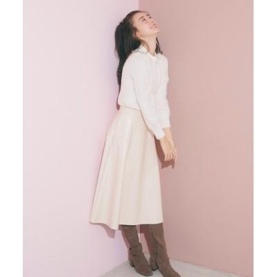 【ジル バイ ジルスチュアート/JILL by JILLSTUART】 フェイクエナメルスカート