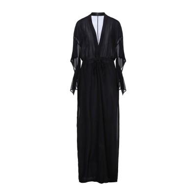 LOST & FOUND ロングワンピース&ドレス ブラック L シルク 95% / ポリウレタン 5% ロングワンピース&ドレス