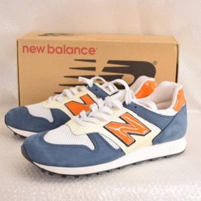 【中古】(ほぼ未履き) Newbalance/ニューバランス M860 WNO スウェード/レザー オレンジ/ホワイト/ネイビー サイズ28.0cm イングランド製