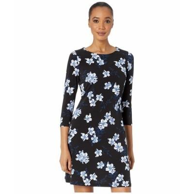 トミー ヒルフィガー ワンピース トップス レディース Charleston Jersey A-Line 3/4 Sleeve Dress Black Multi