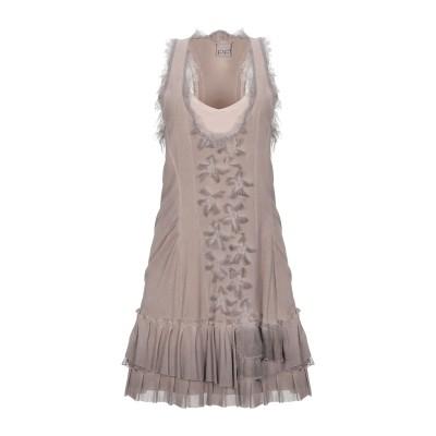PF PAOLA FRANI ミニワンピース&ドレス ドーブグレー 42 ナイロン 100% / コットン / ポリウレタン ミニワンピース&ドレス