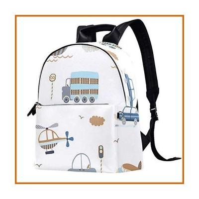 送料無料 Inhomer Casual Daypacks Trucks Airplanes Cars and Sailboat Leather Backpacks Travel Bags School Bag for Men Women Girls Boys