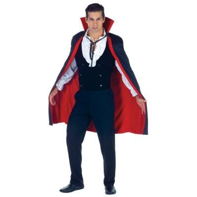 ヴァンパイア 衣装、コスチューム 大人男性用 CAPE BLACK-RED 38 INCH