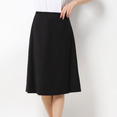 リネーム Rename ウールフォーマル台形スカート (ブラック)