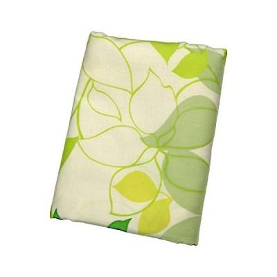 CAMEL PALMS 日本製 綿100% 枕カバー 35×50cm ファスナー式 ピローケース リーフ柄 グリーン