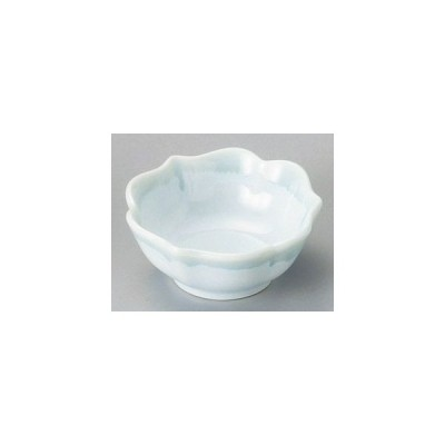 和食器青釉桔梗型小付/大きさ・8×3.3cm