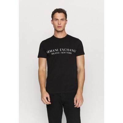 アルマーニエクスチェンジ Tシャツ メンズ トップス Print T-shirt - black
