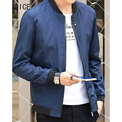 Ra&Do ジャケット メンズ カジュアル 薄手 スリム ジャンパー ブルゾン 春秋 R130 (XL, ネイビー)
