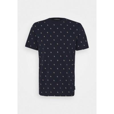 スコッチアンドソーダ Tシャツ メンズ トップス CLASSIC CREWNECK TEE - Print T-shirt - dark blue