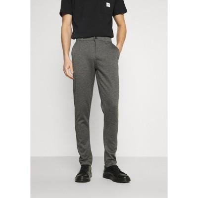 ソリッド カジュアルパンツ メンズ ボトムス DAVE BARRO - Trousers - medium grey melange