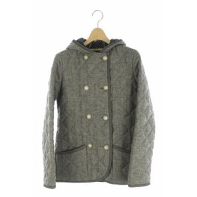【中古】トラディショナルウェザーウェア ジャケット キルティング 中綿 フード 34 グレー /HH ■OS レディース