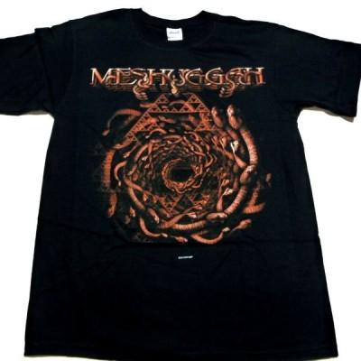 MESHUGGAHメシュガー SPIRAL OF SNAKES オフィシャルバンドTシャツ【2枚までメール便対応可】