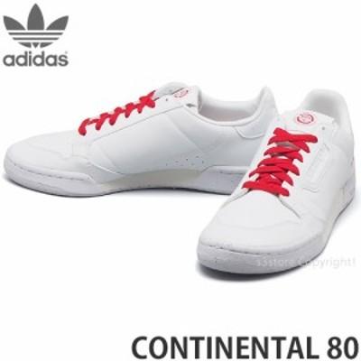 アディダス CONTINENTAL 80 カラー:フットウェアホワイト/フットウェアホワイト/スカーレット