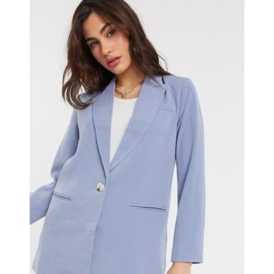 ワイエーエス レディース ジャケット・ブルゾン アウター Y.A.S single breasted blazer in blue