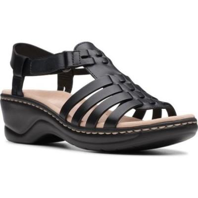 【残り1点!】【サイズ:US10-W】クラークス Clarks レディース シューズ・靴 サンダル・ミュール Lexi Bridge Strappy Sandal Black Full Grain Leather