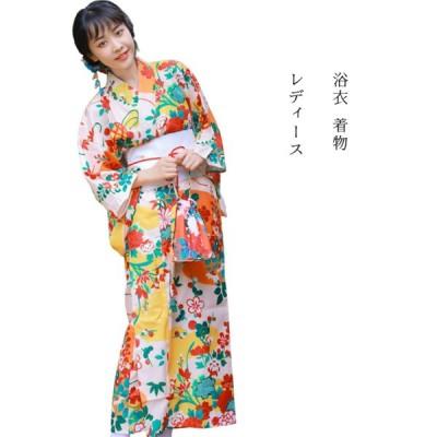 レディース 浴衣 着物  仕立て上がり 洗える 腰紐 高級 花火大会 お祭り 浴衣 F-kimono-02-1