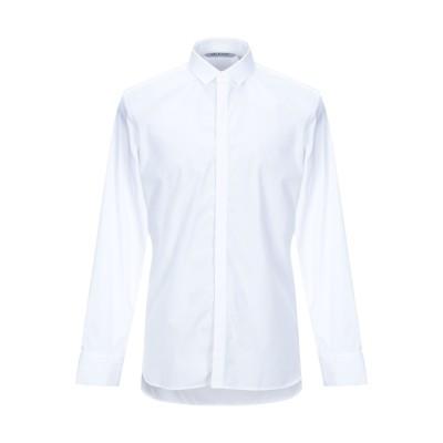 ニール・バレット NEIL BARRETT シャツ ホワイト XL コットン 100% / ナイロン / ポリウレタン シャツ