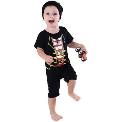 COSLAND Infant ベビー ボーイズ ハロウィン Novelty パイレーツ コスチューム, ブラック, 3-6 マンス(海外取寄せ品)